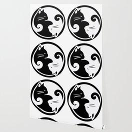 yin yang cats Wallpaper