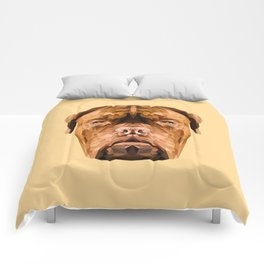 Dogue de Bordeaux low poly. Comforters