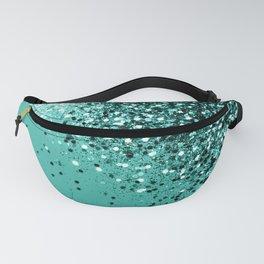 Sparkling Turquoise Lady Glitter #1 #shiny #decor #art #society6 Fanny Pack