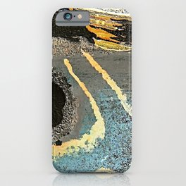 The Golden Path - an abstract, textured piece in neutrals by Jacob von Sternberg Art iPhone Case