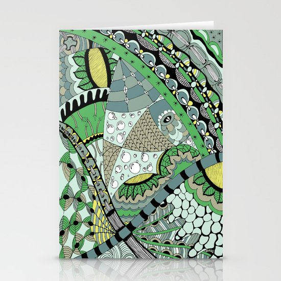 The fish who dreamed of sunflowers and buttons Stationery Cards