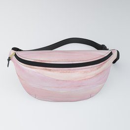 Watercolor Layers Rose Gold Fanny Pack