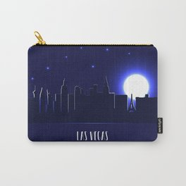 Las Vegas skyline silhouette at night Carry-All Pouch