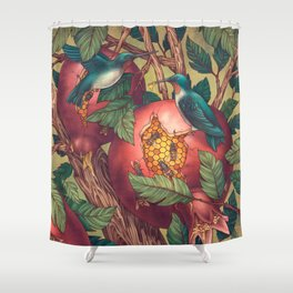 Ragged Wood Shower Curtain