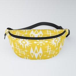 Mid Century Modern Atomic Space Age Pattern Yellow Fanny Pack