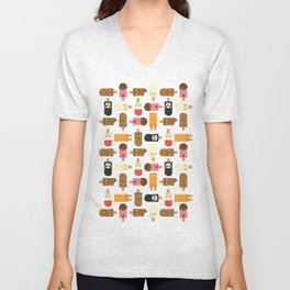 Ice Cream Challenge Character pattern Unisex V-Neck