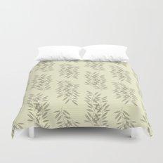 Linen Leaves Duvet Cover