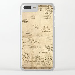 Map of Imirillia Clear iPhone Case