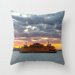 Staten Island Ferry 2020 Throw Pillow