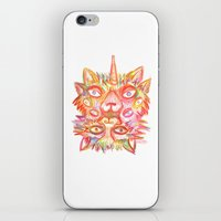 lsd iPhone & iPod Skins featuring LSD cat by AlexTroi