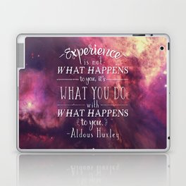 "Aldous Huxley Quote Poster - ""Experience is not what happens to you..."" Laptop & iPad Skin"
