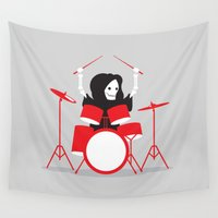drums Wall Tapestries featuring Death Metal by DWatson
