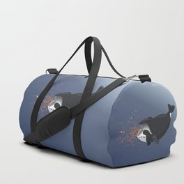 Pinocchio and the Bowhead whale Duffle Bag