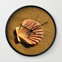 seashell Wall Clocks featuring Seashell by WonderfulDreamPicture