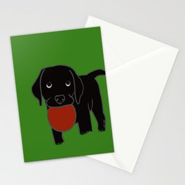 Black Lab Puppy Stationery Cards