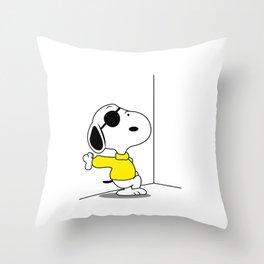 Waiting You Throw Pillow