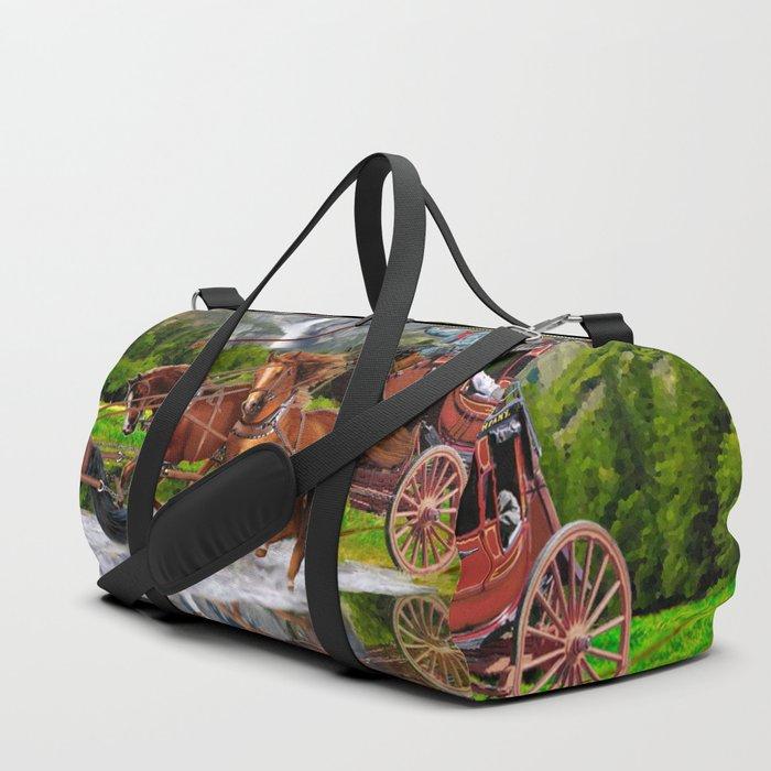 Wells Fargo Stagecoach Duffle Bag