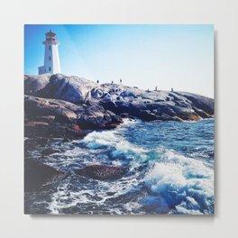 Peggy's Cove lighthead in halifax Metal Print