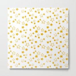 Yellow stars pattern Metal Print