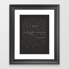 City 24 Framed Art Print