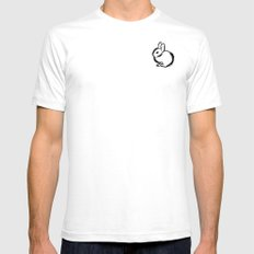 Bunny Rabbit White SMALL Mens Fitted Tee