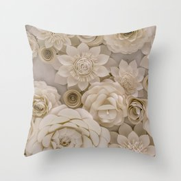 Paper Bouquet Throw Pillow