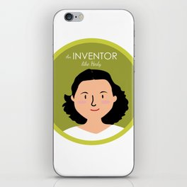 An Inventor like Hedy Lamarr iPhone Skin