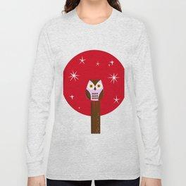 Owl ( alternative red version) Long Sleeve T-shirt