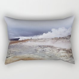 Man on the moon, Iceland Rectangular Pillow