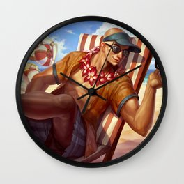 Pool Party Lee Sin League Of Legends Wall Clock