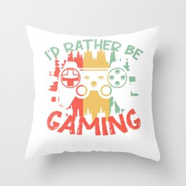 gamer video game play console PC Throw Pillow