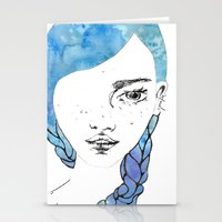 gemma Stationery Cards featuring Gemma by Jessee Fish