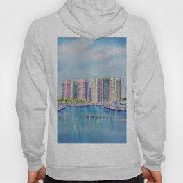Aqua Towers and Marina in Long Beach Hoody