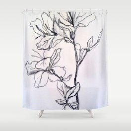 Frantic Energy Shower Curtain