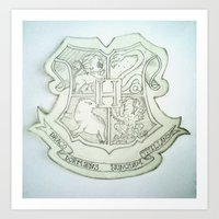 hogwarts Art Prints featuring Hogwarts by Harry Potter