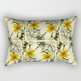 Feathers and Flowers Rectangular Pillow