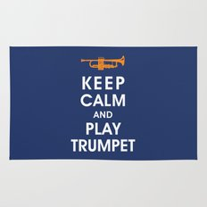 Keep Calm and Play Trumpet Rug