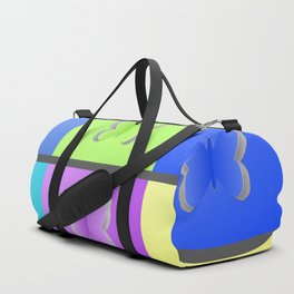 Colorful paper butterfly cutouts Duffle Bag