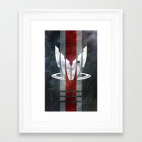 n7 Framed Art Prints featuring N7 Spectre by Toronto Sol