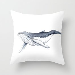Baby humpback whale (Megaptera novaeangliae) Throw Pillow