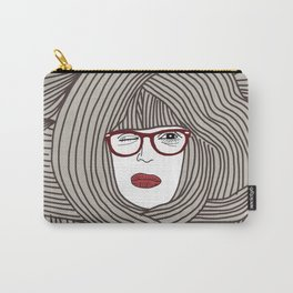 Long Hair Woman Carry-All Pouch