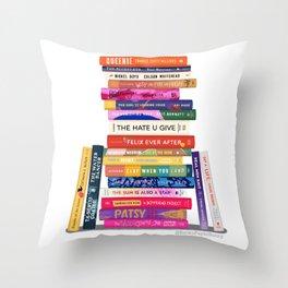 Black Authored Books Throw Pillow