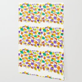 180803 August Abstract 3 | Colorful Abstract | Watercolors Brush Patterns Wallpaper