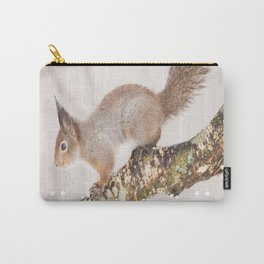 Little squirrel jumping on the branch #decor #society6 #buyart Carry-All Pouch