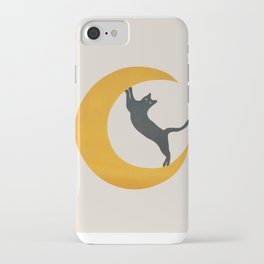 Moon and Cat iPhone Case