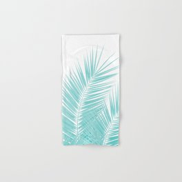 Soft Turquoise Palm Leaves Dream - Cali Summer Vibes #1 #tropical #decor #art #society6 Hand & Bath Towel