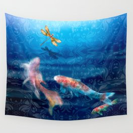 The Koi Damsel Wall Tapestry