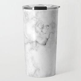 Marble pattern on white background Travel Mug