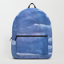 Steel blue clouded wash drawing paper Backpack