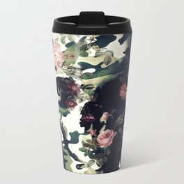 Camouflage Skull Metal Travel Mug